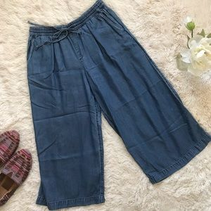 GAP Denim Culotte Wide Leg Crop Size S